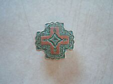 """Southwest Cross Copper with Green Patina Concho  1 1/4"""""""