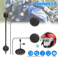 Wireless Bluetooth 5.0 Helmet Motorcycle Headset Headphone FM Radio Hands-Free