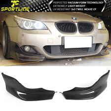 Fits 04-10 BMW 5 Series E60 M Sport 3D Style Front Bumper Lip Carbon Fiber CF