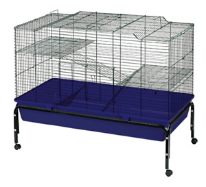 Heritage 2-Tier Rabbit Cage 100cm Double Decker Bunny Indoor Hutch with Stand