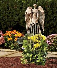 25'' Tall Antiqued Metal Garden Angel Rustic Outdoor Yard Decor Lawn Statue
