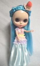 "Takara 12"" Neo Blythe Sky Blue Hair Nude Doll  from Factory TBO280"