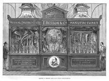 Besson & Co Vento Strumento A LONDRA Esposizione invenzioni stampa antica 1885