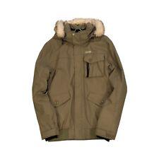 3453eedbac ORAGE Winter Ski Snowboard Green Military Style Snorkel Fur Hooded Jacket