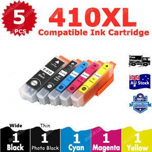 5x Non-OEM 410XL 410 XL ink cartridge for Epson XP530 XP540 XP630 XP640 XP900