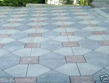 Set of 3 concrete garden mould paving interlocking floor tile driveway pathmaker