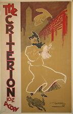 Original 1897 art nouveau American literary poster W.B. Eddy lithograph