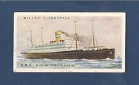 RMS NIEUW AMSTERDAM Holland America Line Rotterdam 1924 original card