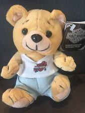 "Harley Davidson Small Plush Beanie Bear 6"" HD EVO BEAR"