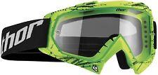 Thor Enemy Youth Goggles Splatter Green MX Motocross Off-Road Enduro Quad MTB