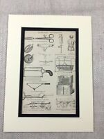 1880 Print Victorian Surgical Apparatus Surgery Tools Saw 19th Century Medicine