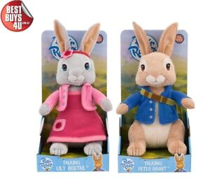 PETER RABBIT TALKING PETER & LILY BOBTAIL SOFT PLUSH TOY (EACH SOLD SEPARATELY)