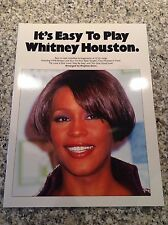 NEW It's Easy To Play Whitney Houston & Play Piano With Songs From Glee Songbook