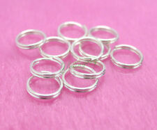 300x Silver Plated Double Loop Jump Split Rings 7mm Jewelry Making