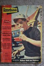 RASSELBANDE. 9. April 1958. Titelbild: Eisleckende ROMY SCHNEIDER in Disneyland
