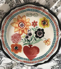 """Anthropologie Decorative Plate French """"For You"""" Hand Painted Wall Decor"""