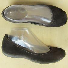 MERRELL Women Ballet Flats Us 7 EU 37.5 Driving Loafer Slip On Brown Suede