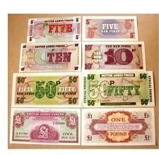 BRITAIN BRITISH SET4 UNC 5 10 50 PENCE 1 pound