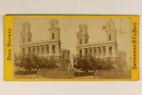 Francia Parigi Chiesa Place Saint-Sulpice c1870 Foto N.c. - Vintage Albumina