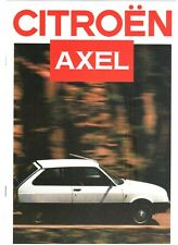 BROCHURE PROSPEKT CITROEN AXEL IN LINGUA ITALIANA