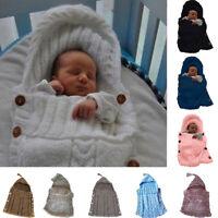 Newborn Baby Knit Thermal Sleeping Bags Blanket Sleep Sack Stroller Wrap Swaddle