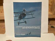 Wwi Ace Lieutenant Voss Pilots Jasta 10 Book Richthofen Fokker Sopwith Rfc Se5a