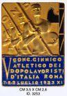 """Fascismo V° Conc. Ginnico atletico dopolavoristi d'Italia Roma 1933 dist. """"3253"""""""