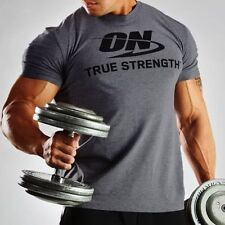 OPTIMUM NUTRITION T-SHIRT (LARGE) [GRAY] genuine gold standard limited tee grey