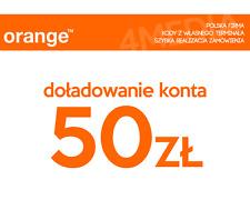 DOŁADOWANIE DOLADOWANIE - ORANGE 50 PLN [Szybka realizacja/PayPal/Przelew]
