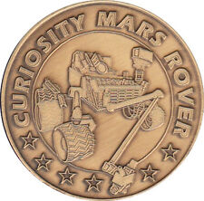 "NASA THE MARS ROVER CURIOSITY 2 YEAR MISSION 1.5"" ANTIQUE BRONZE COMMEMORATIVE"