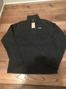 NWT Men's Patagonia Better Sweater 1/4 Zip Jacket Size Large Black