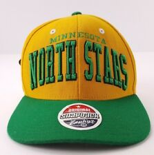 Minnesota North Stars Spellout Zephyr Snap Back Hat NHL NWT Snapback