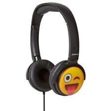 Groov-e GVEMJ11 Cheeky Face EarMoji Dj Style Padded On-Ear Stereo Headphones New
