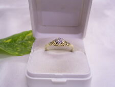 SOLITÄR-BRILLANTRING um 1920: DIAMANT-RING ca 0,25 ct: 585er GELBGOLD:HANDARBEIT