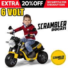 6v DUCATI SCRAMBLER Kids Electric Ride On CAR BIKE TRIKE - LICENCED MOTORBIKE