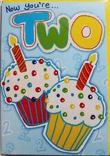 Maintenant Vous êtes deux Anniversaire Carte & Enveloppe, fille ou garçon, Gâteau à thème, BRAND NEW