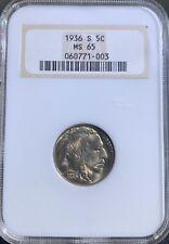 1936 S Buffalo Nickel 5C NGC MS 65