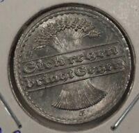 Germany 50 Pfennig 1922 UNC Aluminum