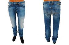 Men's DIESEL Safado 0833S blue reg. slim straight distressed jeans 29 x 32 #10