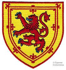 SCOTTISH HERITAGE BIKER PATCH - SCOTLAND SHIELD FLAG Coat of Arms LION RAMPANT