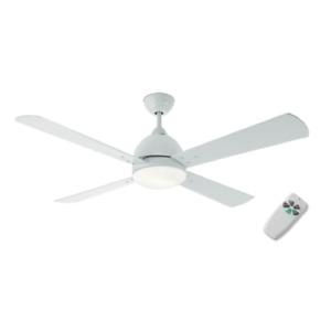 Ventilatore da Soffitto 4 Pale Luce LED Metallo Colore Bianco Perenz 7132 B