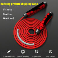 Adjustable Weighted Skipping Heavy Rope Gym Adult Jump Speed Rope UK