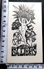 """EX LIBRIS 19 """" EROTIC ESTONIA / OPUS 190 """" - * HUGO NOMMESTE * - X TIMBRO RETRO!"""