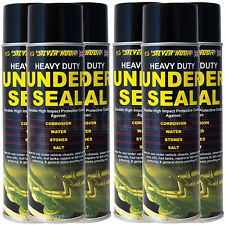 6 x Underseal Spray On Aerosol Underguard Paint Under Body Protection Seal 500ml