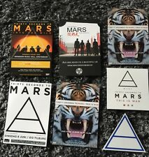 3 rare 30 Seconds to Mars Official Stickers & 3 Flyers & 1 Postcard / Jared Leto