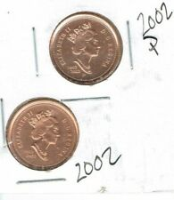 2002-P Uncirculated Canadian 1952-2002 Cent & 2002 Uncirculated Cent! (2 Coins)!