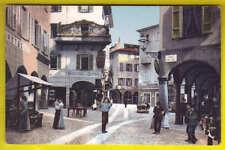 Postcard LUGANO SWITZERLAND Via Nassa Vicolo Lido - Mercato ANIMATA Postal