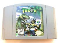 Turok Dinosaur Hunter - N64 Nintendo 64 Game Tested + Working & Authentic!