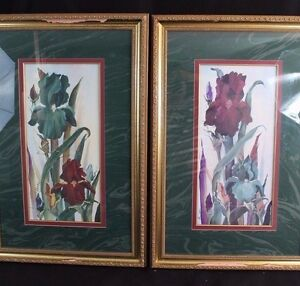 2 FRAMED STILL LIFE FLORAL PRINTS B SUMRALL SIGNED 1 LIMITED EDITION SGN/NUMB