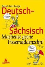 Deutsch-Sächsisch von Bernd-Lutz Lange (1994, Taschenbuch)